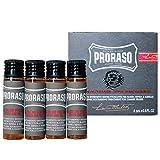 Proraso Hot Oil Beard Treatment, 4 Count .6 fl oz Vials
