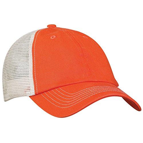 Sportsman 3100 Contrast Stitch Mesh Cap Tangerine/ Stone, Size Adjustable