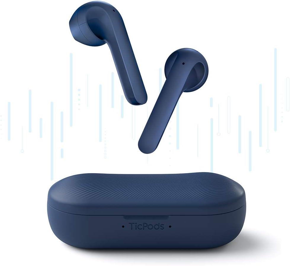 TicPods 2 Pro Auriculares Inalámbricos, Detección en la Oreja, Calidad de Sonido Superior, Control Táctil/Voz/Gesto, Azul