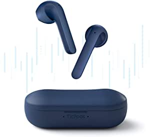 TicPods 2 Wireless Earbuds True Bluetooth Earbuds,in-Ear Detection, Superior Sound Quality,Touch/Voice/Gesture Control,Voice Asissant,IPX4 Water Resistant (Standard, Navy)