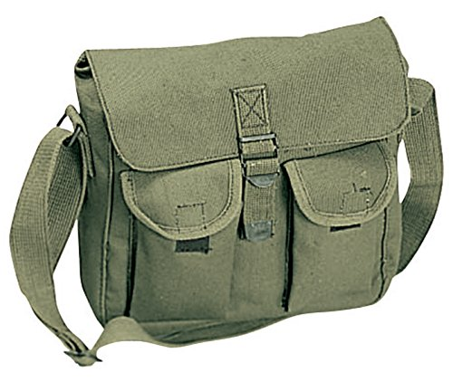 SMALL ARMY GREEN Vintage Shoulder Laptop Cross Body School C
