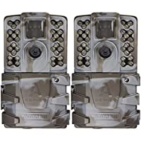 Moultrie A-35 14MP 60' HD Video Low Glow Infrared Game Trail Camera (2 Pack)