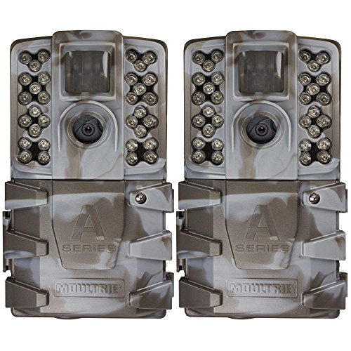 - Moultrie A-35 14MP 60' HD Video Low Glow Infrared Game Trail Camera (2 Pack)