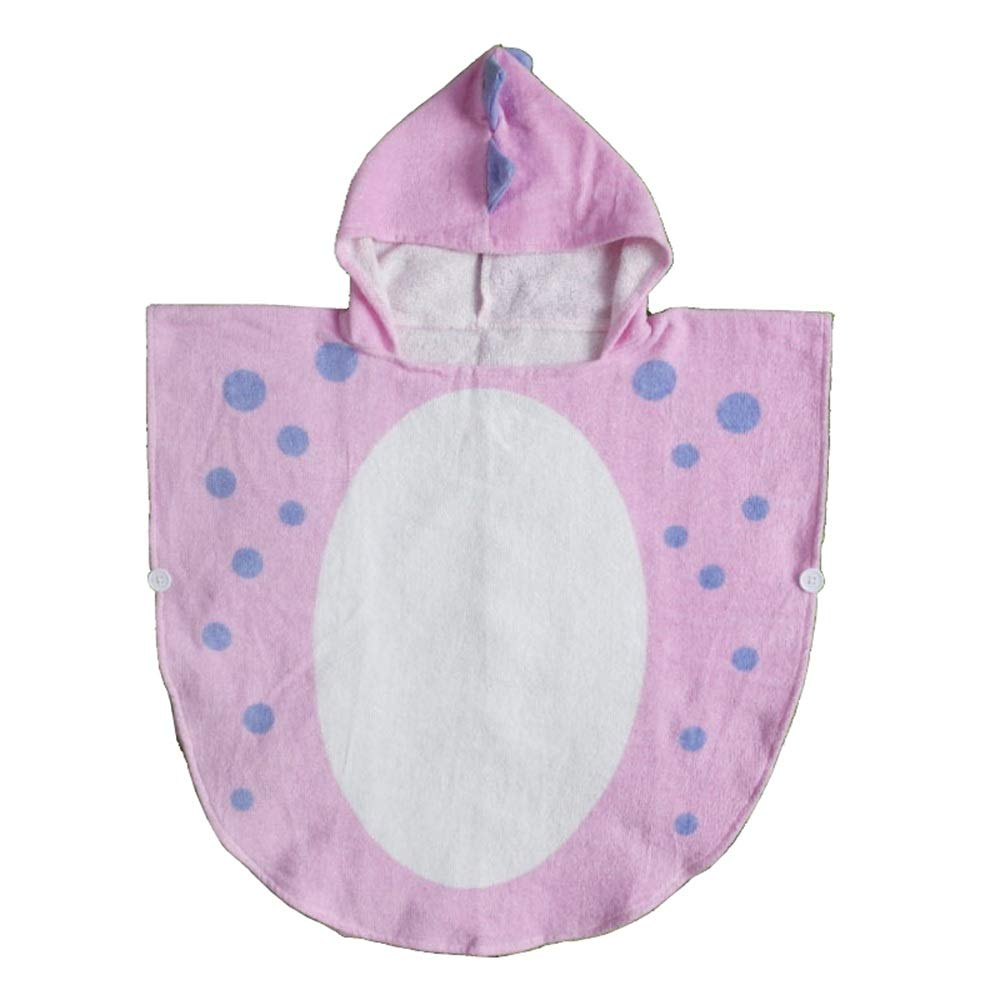 Feeryou Children's Fashion Hooded Bath Towel Poncho Towel Strong Water Absorption Quickly Remove Moisture No Shrinkage Keep Dry Quality Assurance Super Strong (Color : Pink, Size : 70140cm)