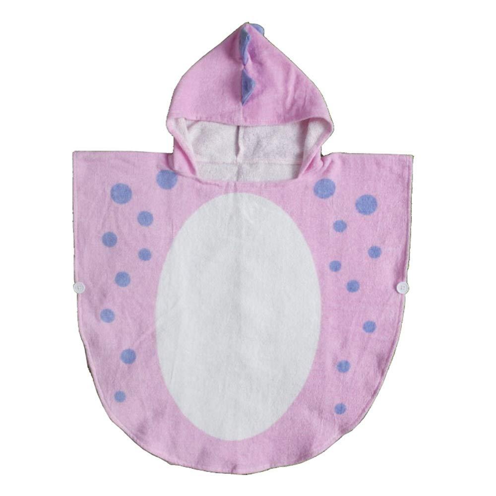 HUACHEN-LS Towel Beach Bath Towel for Girls/Boys Kids Children Hooded Bath Bathroom Daily (Color : Pink, Size : 70140cm)