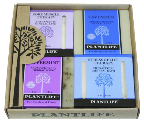 Cheap 4 Pack Aromatherapy Herbal Soap /Therapeutic Mineral Salt Combo Relief