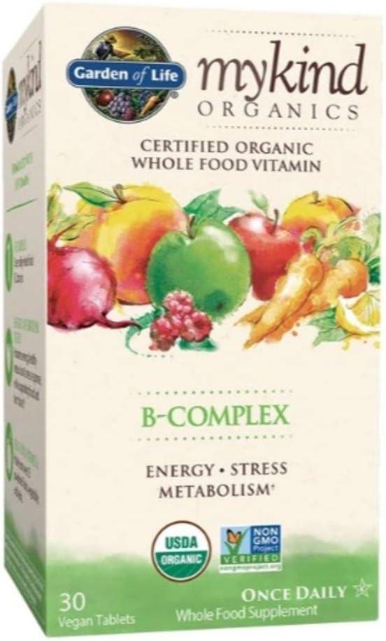 Garden of Life My Kind Organic Vegan Vitamin B-Complex Tablets - 30ct