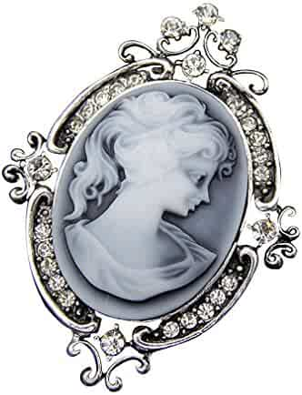 2507c126e YAZILIND Vintage Cameo Pins Flower Brooch Vogue Jewelry For Women Best Gift