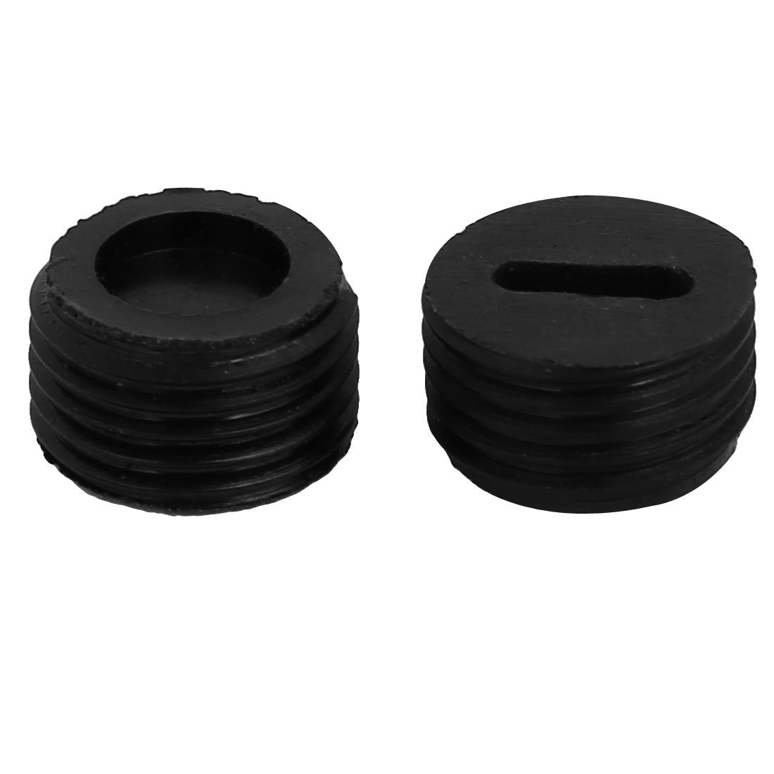 uxcell 15pcs 10mm Outer Dia Male Thread Plastic Motor Carbon Brush Holder Cap Cover