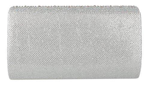 Borse Borsa sintetico materiale da in argento donna donna per rpwqrERAO