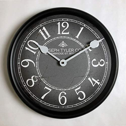 Gray White Wall Clock, Available in 8 Sizes, Most Sizes Ship The Next Business Day, Whisper Quiet.