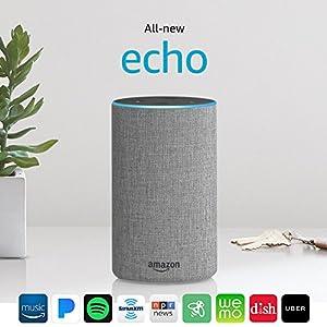 Echo (2nd Generation) - Heather Gray Fabric