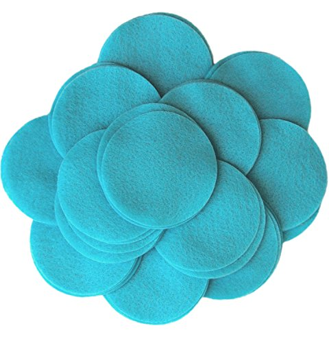 (Playfully Ever After 5 Inch Turquoise Blue 18pc Felt Circles)