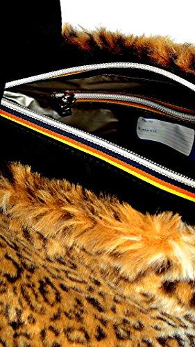 Bolsa - K-plain Peluche 5bkk8603 Black-Sabbia