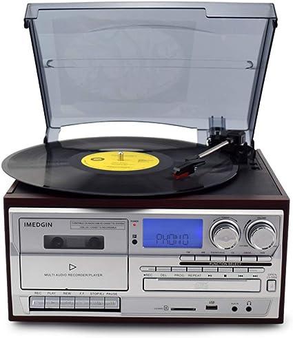 JJSSGGJJLLSSJJ Tocadiscos Reproductor de Discos de Vinilo ...