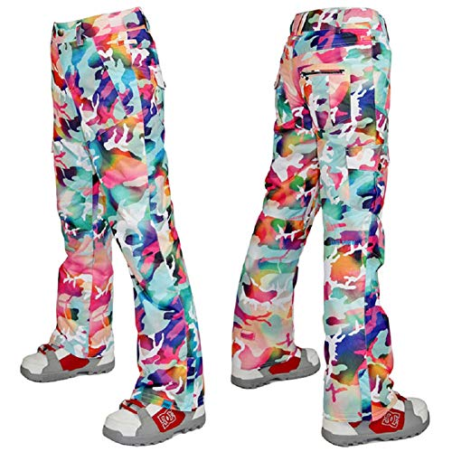 Classical city Women Ski Pants Camouflage Skiing Trousers Waterproof Windproof 10K Winter Outdoor Fleece Insulated - Suit Trousers City
