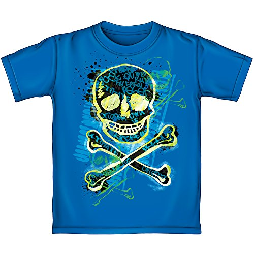 Skeleton Crossbones Youth Tee Shirt (Glow in the Dark) (Kids Large)]()