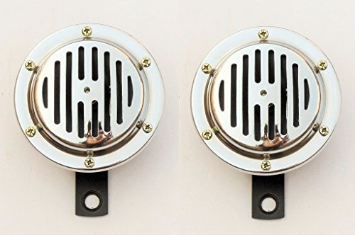 NEW HORN 12V SET of Two for two wheeler scooter motorbike vehicle type- 14000102