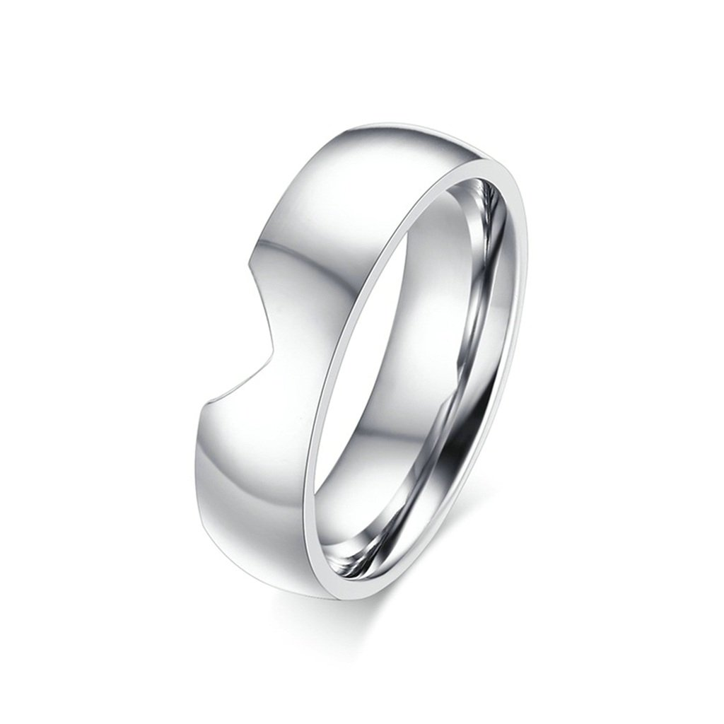 Men Stainless Steel Wedding Bands 6MM Heart Puzzle Comfort Fit Silver Size 8 KnSam 1PCS Price