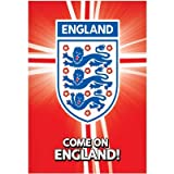 England F.A. Poster Crest Rd- Large Poster- Approx 61Cm X 91Cm- Rolled- Official Licensed Product