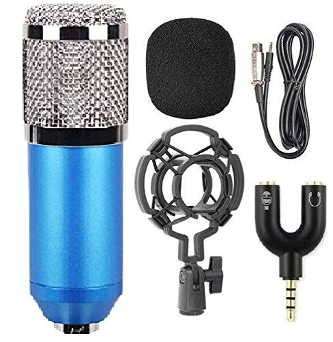 SlideNBuy New BM800 Professional Studio Broadcasting & Recording Microphone Set Including (1)NW-800 Professional Condenser (1)Shock Mount + (1)Ball-type Anti-wind Foam Cap + (1)Microphone Power Cable