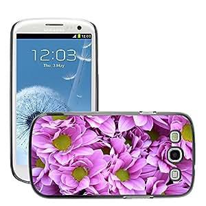 Print Motif Coque de protection Case Cover // M00154705 Fondo púrpura de las flores Naturaleza // Samsung Galaxy S3 S III SIII i9300