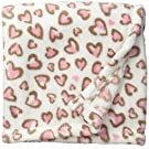 Lovespun Baby Heart Print Plush Blanket, Ivory, One Size
