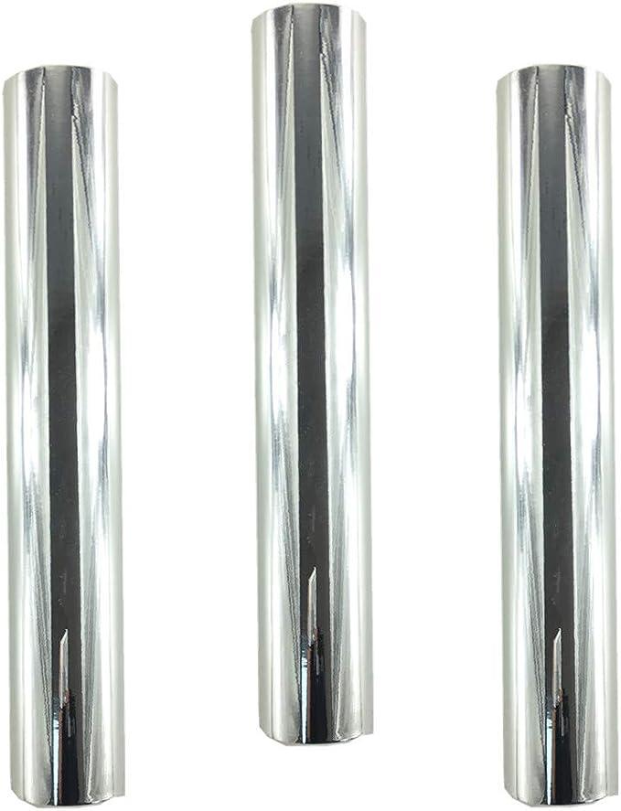 WDragon - Rollo de vinilo adhesivo holográfico permanente para manualidades con diseño de ópalo brillante, 30 x 30 cm, 3 hojas, para herramientas Silhouette Cameo Cricut y más plata: Amazon.es: Hogar