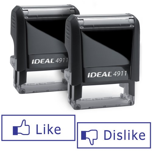 LIKE/DISLIKE Facebook Self-inking Stamps