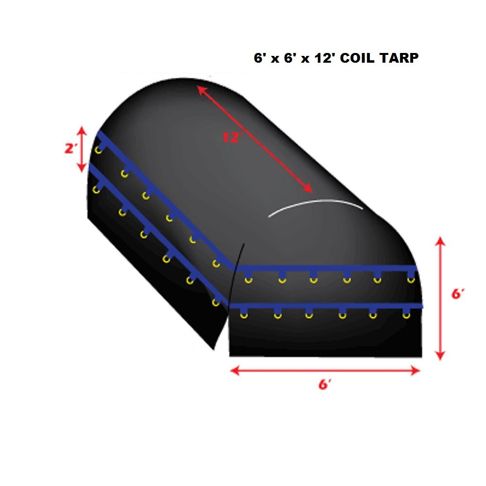 FJYW-12' x 6' X 6' Flatbed Truck Tarp - Light Weight Coil Tarp by XTARPS