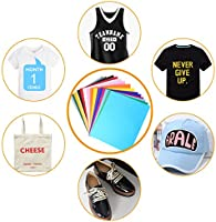 ARTISTORE 25Pc PU Papel transfer para hacer camisetas,sombreros, ropa de vinilo resistente para Silhouette Cameo, Cricut o Heat Press Machine Tool: Amazon.es: Hogar