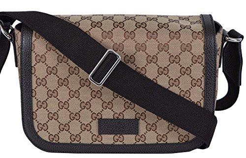 Gucci Medium Shoulder Bag (Gucci Unisex GG Guccissima Canvas Medium Messenger Bag (Beige/Brown))