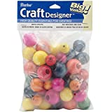 Darice 0500-04 Wood Beads, Large, Assorted Color