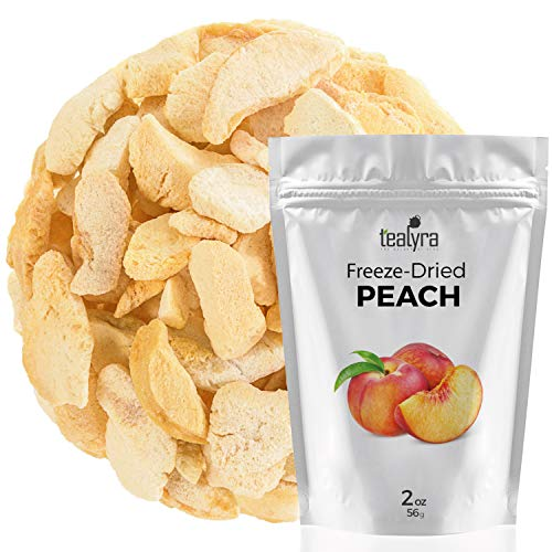 Peach - Freeze Dried Fruits Snacks Chunks - Non-GMO - Gluten-Free - No Sugar Added - 100% Natural and Organically Processes - Tealyra