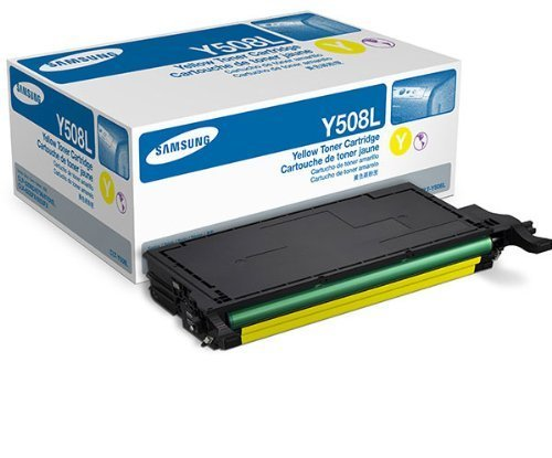 Samsung CLT-Y508L OEM Toner - CLP-620ND 670ND CLX-6220FX 6250FX High Yield Yellow Toner (4000 Yield)