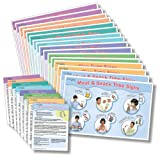 Sign2Me ASL Reminder Series - 16 pc Laminated Placemat/Posters - English, SPANISH and American Sign Language (English and Spanish Edition)