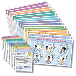 Sign2Me Early Learning Reminder Series Laminated Placemats/Posters (English/Spanish/ASL) (English and Spanish Edition)