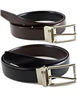 Alpine Swiss Mens Dress Belts Reversible Black Brown Leather Imported from Spain