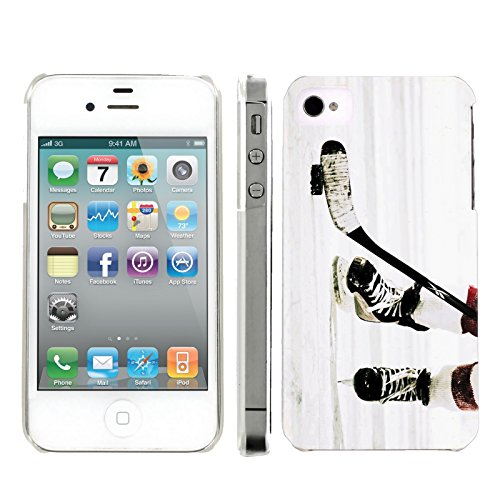 (Mobiflare, Slim Clip-on Phone Case, for [iPhone 4 and 4S] - Hockey Game)