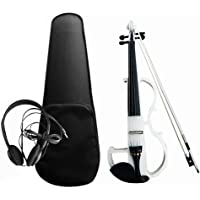 Roloiki 4/4 Electroacoustic Violin Kit Solid Wood Electric Silent Violin Fiddle Style Basswood Body Ebony Fingerboard…