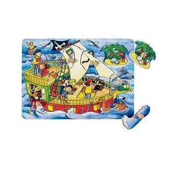 Goki Juego de mesa PUZZLE DE MADERA 9 piezas Modelo PIRATAS 21,5 x ...