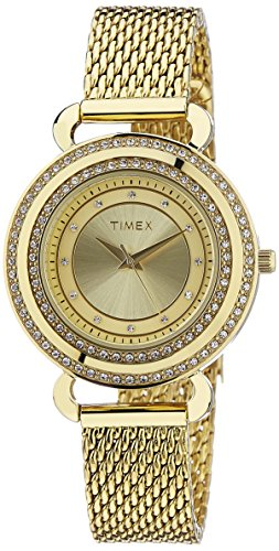 Timex Women's Fashion Analog Champagne Dial Watch