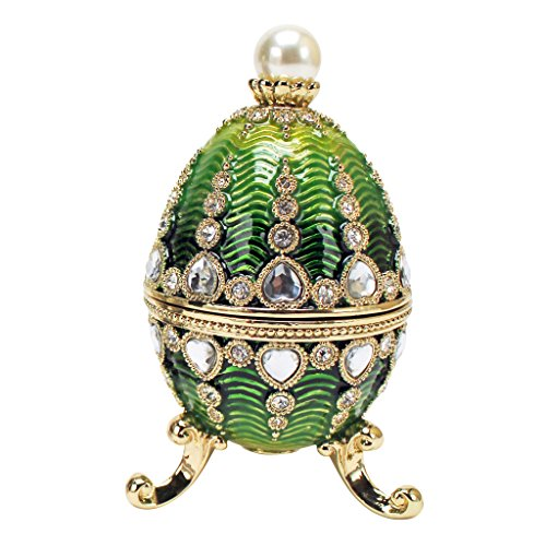 (Design Toscano Bogdana Collection Romanov Style Enameled Veronika Eggs,)