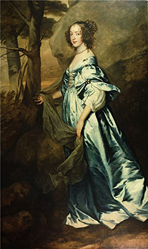 Oil Painting 'Anthony Van Dyck - Anne, Countess Of Clanbrassil, 1636', 12 x 20 inch / 30 x 51 cm , on High Definition HD canvas prints is for Gifts And Hallway, Nursery And Powder Room Decoration, (Crackle Paint Antique Linen)