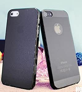 Black New 0.5mm Thin Slim Matte Frosted Hard Case Cover For Candy Case - iPhone 4 4S