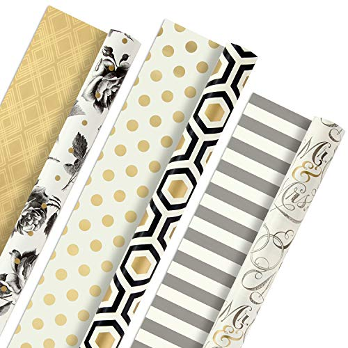Hallmark Reversible Wrapping Paper, Elegant (Pack of 3,...