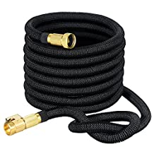 VicTsing 50ft Garden Hose, Strongest Expandable Garden Hose with Double Latex Core, Solid Brass Connector and Extra Strength Fabric for Car Garden Hose Nozzle