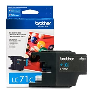 Brother Printer LC71C Standard Yield Cyan Ink by Brother Printer