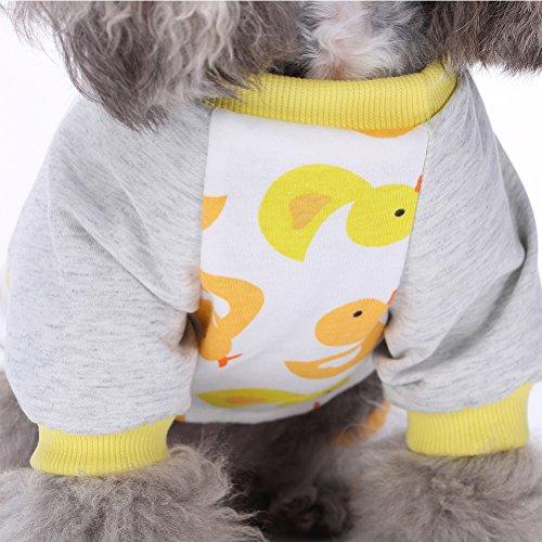 Rosenice Animal Chien Vêtements Chiot Pyjama Chemise De Nuit Nuit Robe Vêtements Pyjama Chat Salopette