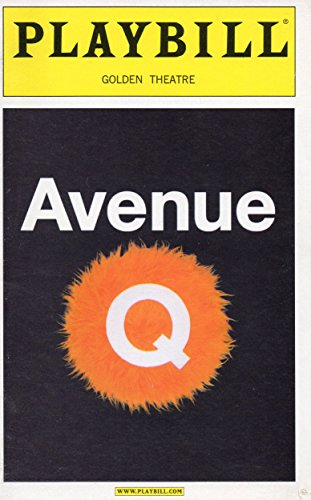 AVENUE Q Playbill for the Original Broadway Production - Golden Theatre - April 2005